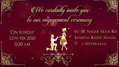 Engagement Invitation Message