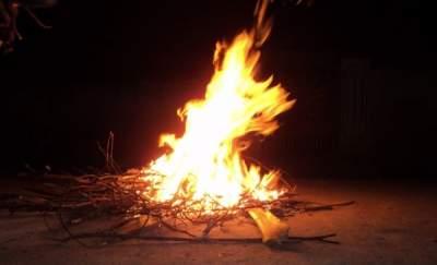 Bhogi fire- sankranthi celebration 1st day