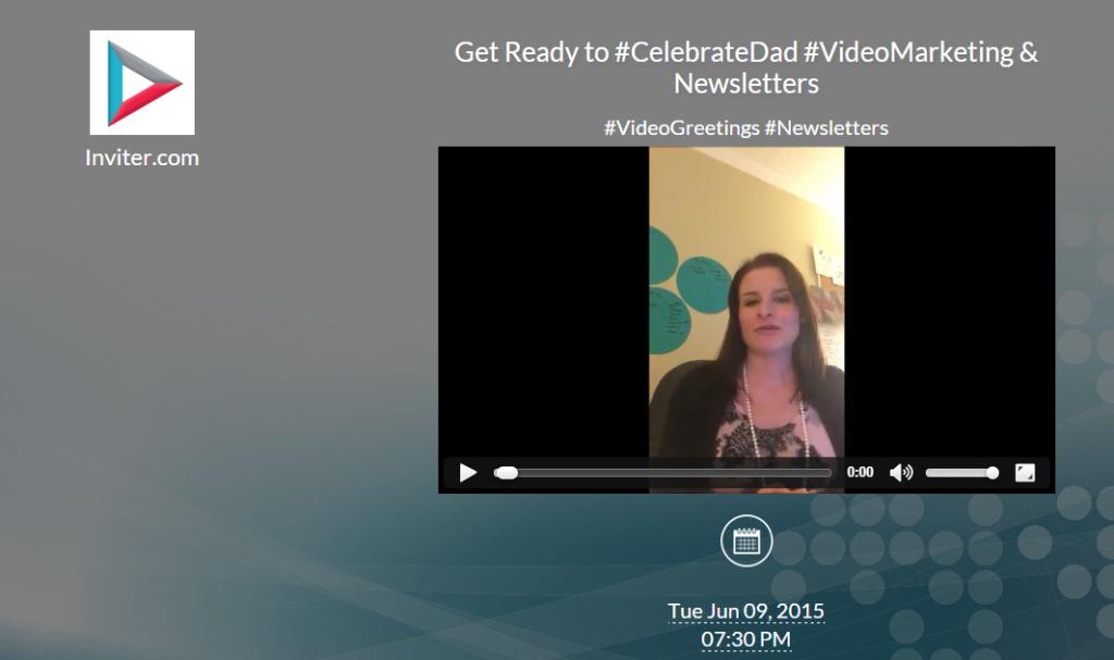 #CelebrateDad Video Invitations