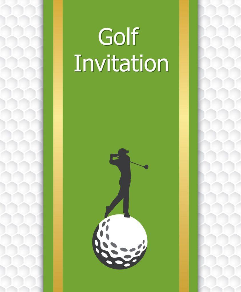 Golf event invitations