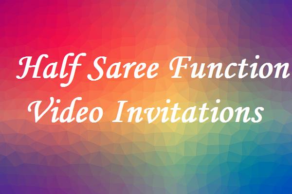 half saree function