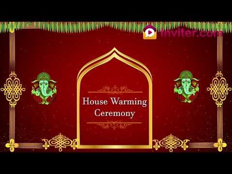 Housewarming video invitations