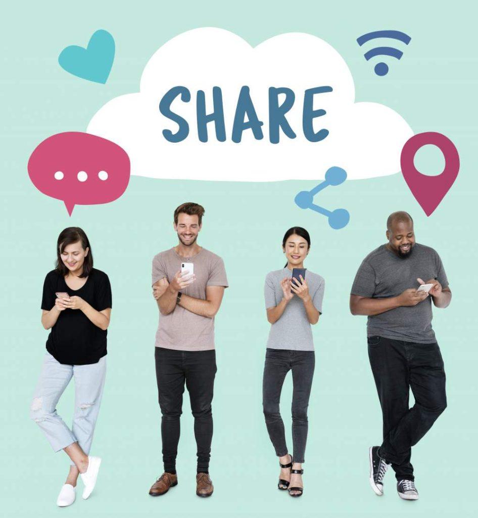 Share video invites via social media