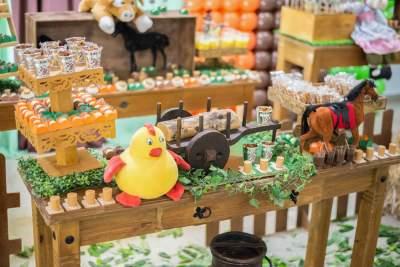 Farm theme table