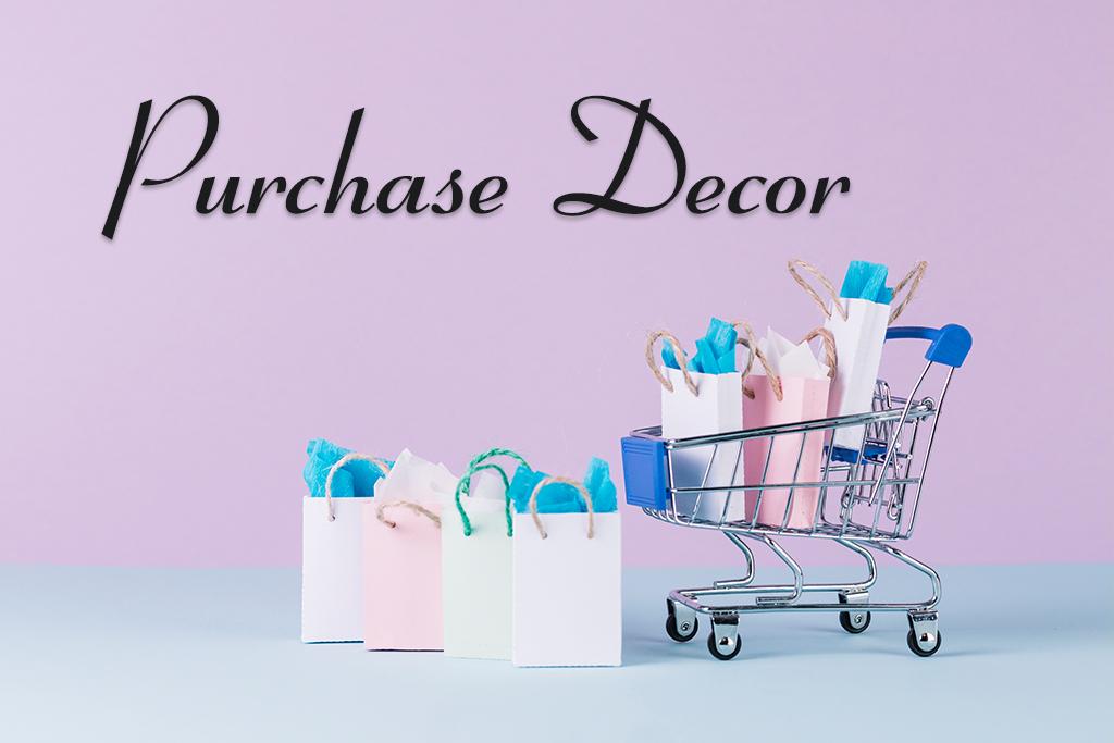 Purchase birthday decor - Inviter video invitation maker