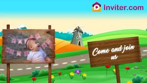 theme birthday video invitations