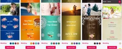 Digital video invitations for wedding