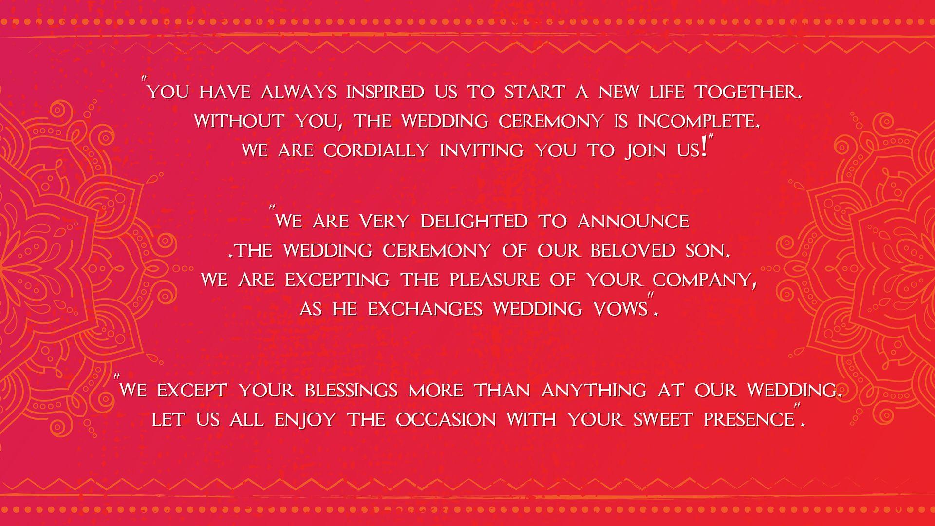 Best Wedding Invitation Messages | Inviter.com